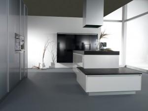 Combinación elegante de colores blanco, negro y acero