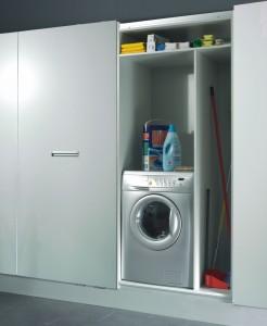 Zona de limpieza con espacio para la lavadora