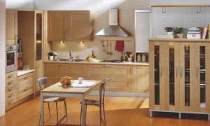 Diseño de cocina clásica de madera maple