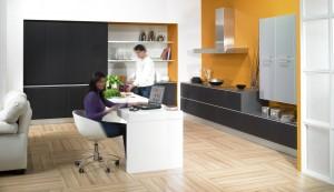 Cocina integrada en salón o zona de trabajo