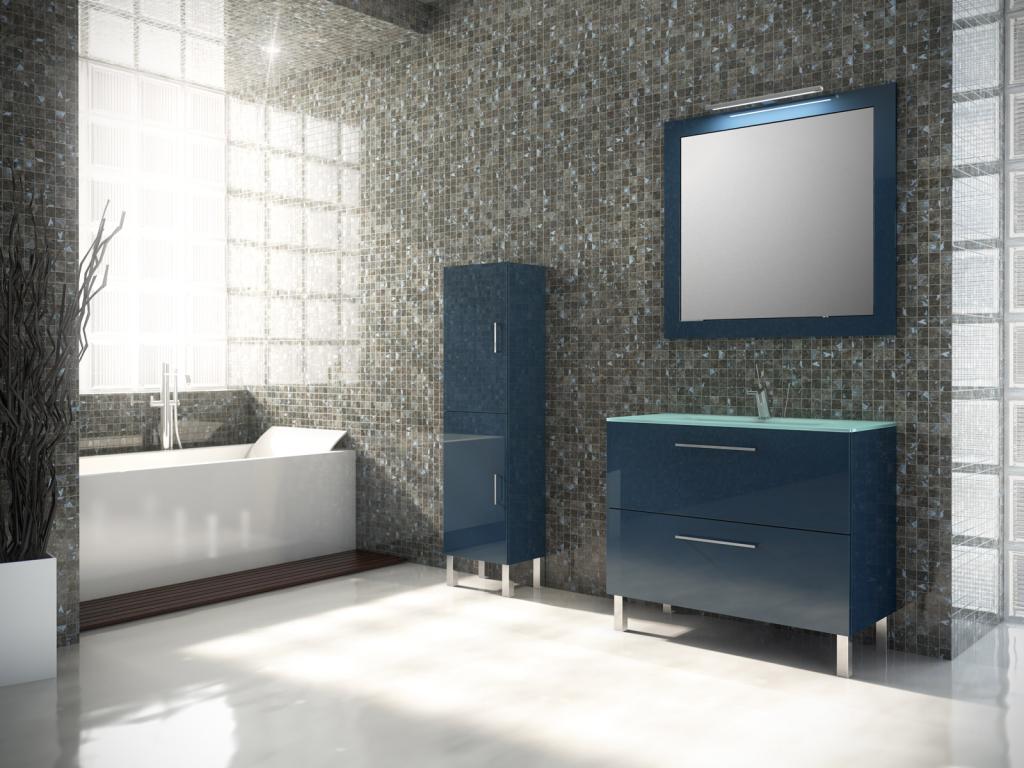 Muebles de ba o azul cobalto tegar dise o de cocinas for Muebles de bano azul